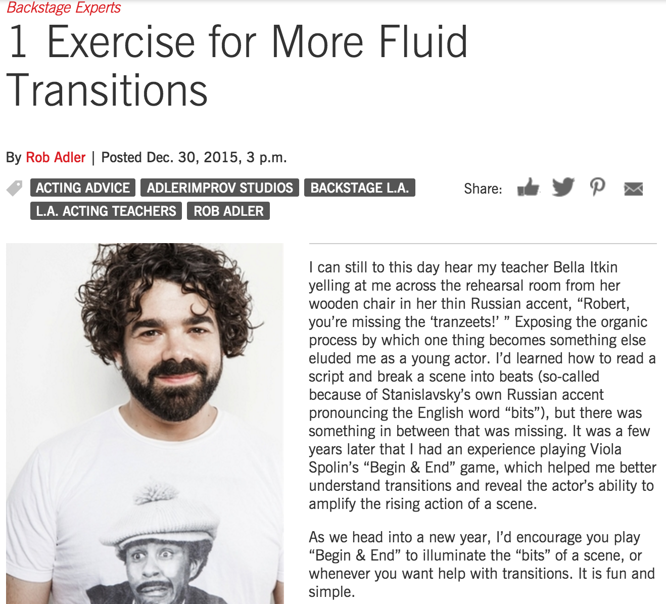 Rob Adler - Backstage - 1 Exercise for More Fluid Transitions