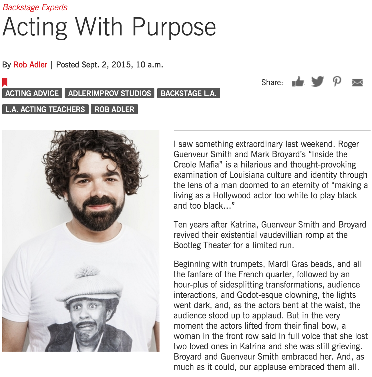 Acting With Purpose