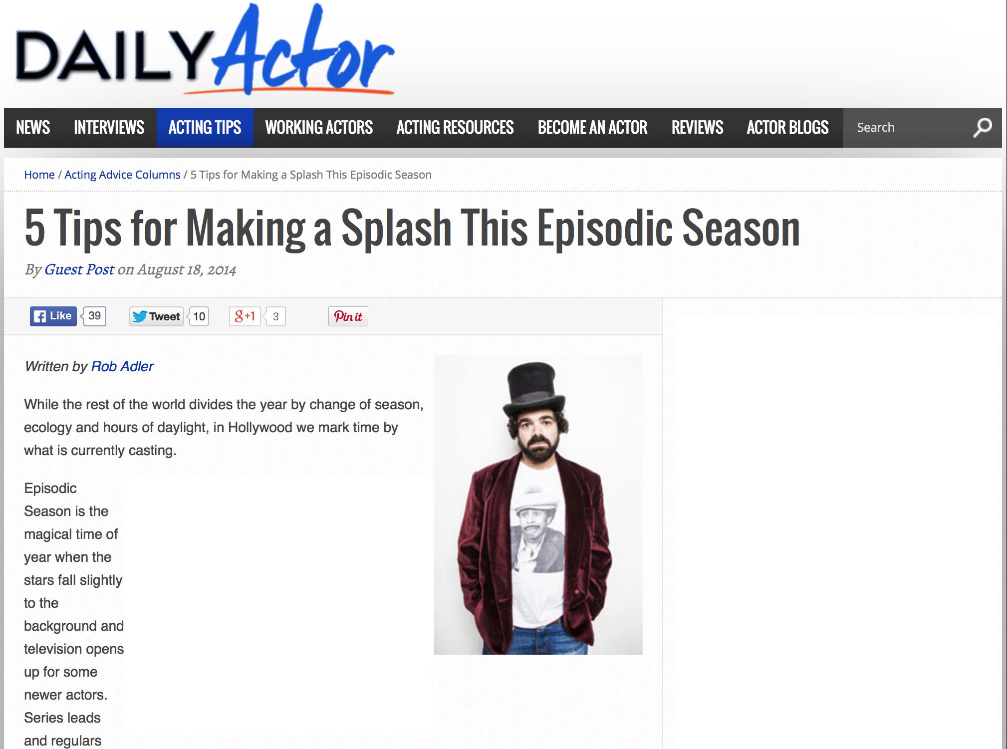 Acting Episodic Season