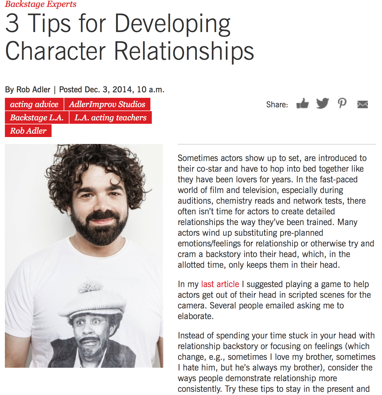 Developing Character Relationships