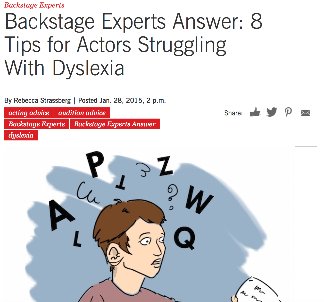 Acting With Dyslexia